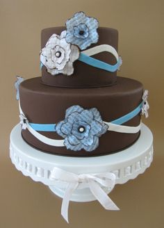 Rhapsody in Blue and Brown Cake