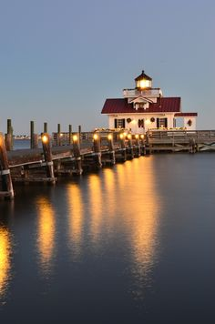 Manteo Lighthouse - Wife suggested this shot, and I have to give her credit here.  Cold evening with a nice reflection.