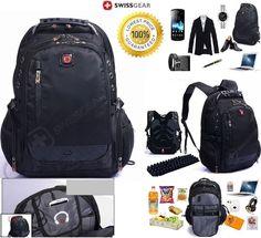 4FSGLOBAL UNISEX SWISSGEAR BACKPACK BY WENGER LAPTOP BAG 15-16 TRAVEL BAG NYLON