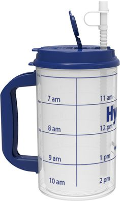 "You've Asked, We've Answered! Now you can use our time markings to drink your goal of 1 GALLON of water every day! NEW ""The GALLON"" Hydr-8 Water Bottle"