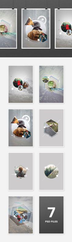 Geometric Photo Art Templates - download freebie by PixelBuddha