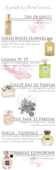 Amour-Love: PERFUME GUIDE -- floral scents