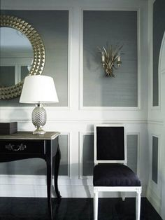 Beautiful Wall Trim Molding Ideas Beautiful Moulding - Wall Trim Ideas For My Living Room and Entryway - Addicted 2 Decorating® Wall Trim Molding, Chair Rail Molding, Moldings, Panel Moulding, Crown Molding, Picture Frame Molding, Picture Frames, Beautiful Wall, House Beautiful
