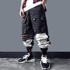 Clout Pants - Techwear Cargo Pants Streetwear Clothing - Mugen & Soul Inc Standard US/EU Size Soft touch Cotton/Polyester blend for ultimate comfort Slim fit Joggers Straight Leg Elastic Waist Functional pockets Seoul Fashion, Nyc Mens Fashion, Fashion Women, Fashion Trends, Best Streetwear Brands, Streetwear Fashion, Streetwear Clothing, Streetwear Summer, Street Outfit