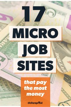 Have you ever found yourself short on cash and in urgent need to make more? If you are also short on time and want to make a little extra spending money this list of micro job sites could offer the perfect opportunity for you. Work From Home Jobs, Make Money From Home, Way To Make Money, How To Make, Make Money Blogging, Make Money Online, Saving Money, Money Tips, Saving Tips