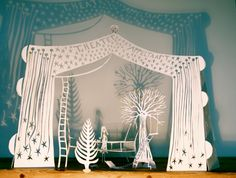 Guusje's Appeltaart : The girl in the magid bed Papercut by me
