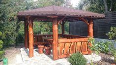 altana ogrodowa z bali