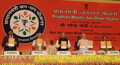 India's PM Modi launches Jan Dhan Yojna in Delhi on 28th August 2014.