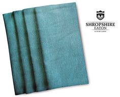 """Cloth Dinner Napkins - Luxury Kitchen Linen for your Table - Set of 4 - Chalybeous Blue Chambray Cloth Napkins 18"""" x 18"""" http://kitchenammo.com/store/kitchen/cloth-dinner-napkins-luxury-kitchen-linen-for-your-table-set-of-4-chalybeous-blue-chambray-cloth-napkins-18-x-18/"""