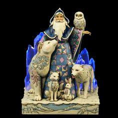 Arctic Santa with Animals Lighted Figurine - Jim Shore / Heartwood ...