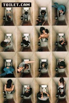 Toilet Cam (Bathroom Scenes) Art Poster