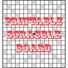 Free Printable Scrabble Board. Also check out my pin for free printable scrabble tiles :)