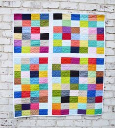 1+1 Modern Baby Quilt Tutorial – Riley Blake Designs Baby Quilt Tutorials, Baby Quilt Patterns, Antique Quilts, Vintage Quilts, Modern Quilt Blocks, Modern Quilting, Plus Quilt, Quilting Tips, Crazy Quilting