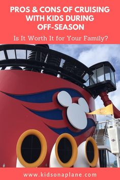 Do the benefits outweight the drawbacks of cruising during off-peak periods? Here are some pros and cons of cruising with kids during the off-season and why we recommend it. Disney Cruise Tips, Packing List For Vacation, Packing For A Cruise, Best Cruise, Cruise Travel, Cruise Vacation, Cruise Offers, Travel With Kids, Family Travel