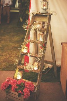 old-wooden-ladder-with-glass-jar-lights-for-garden-decoration1