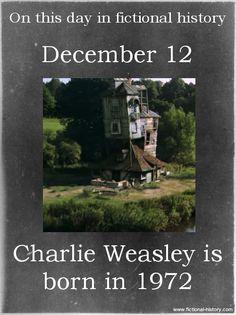 (Source) (Source) Name: Charlie Weasley Birthdate: December 12, 1972 Sun Sign: Sagittarius, the Archer Animal Sign: Water Rat