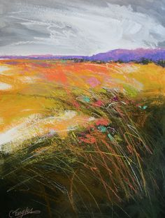 California Artwork: Chartreuse Field Five, abstract landscape ...