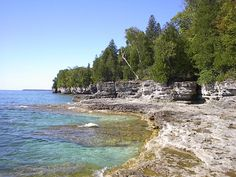 One of many beautiful beaches in Door County, WI