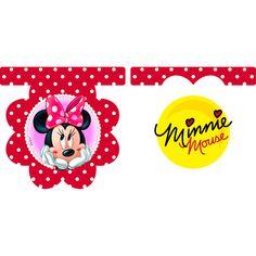 #Banderas o #Guirnaldas de  #Minnie de licencia oficial #Disney. Ideal para crear ambiente y decorar.