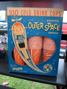 Exciting Outer Space Design (vintage cups)