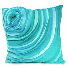 Flower Pillow in Aqua