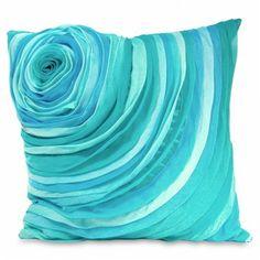 Flower Pillow in Aqua