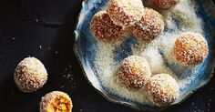 Satisfy your sweet tooth with these healthy peach and macadamia bliss balls.