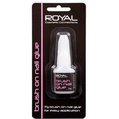 Royal Brush On Nail Glue 7g NNAI035 - This False Nail Glue Adhesive is perfect for False Finger Nails and False Toe Nails Glue On Nails, Toe Nails, Quick Dry, Adhesive, How To Apply, Cosmetics, Bottle, Finger Nails, Easy