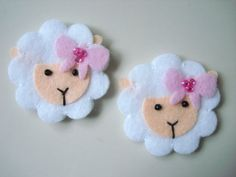 set of 6 pcs size: 1 1/2    color: white    You may use them as decorations in hair clip, pin, brooch, bow, snap, scrapbooking, kids wear, socks, art