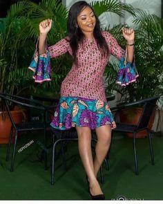 Ankara Long and Short Gowns Styles 2019 Beautiful Ladies.Ankara Long and Short Gowns Styles 2019 Beautiful Ladies Ankara Short Gown Dresses, Ankara Short Gown Styles, African Prom Dresses, Short Gowns, African Dresses For Women, African Attire, African Fashion Ankara, Latest African Fashion Dresses, African Print Fashion