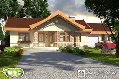 Projekt domu Kuropatwa - wariant A - odbicie lustrzane - Dom Dla Ciebie Good House, Home Fashion, Gazebo, Outdoor Structures, House Design, Cabin, House Styles, Outdoor Decor, Houses