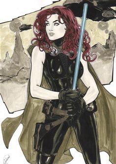 Star Wars - Mara Jade by Gardenio Lima