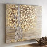 Planked Golden Birch Trees Art