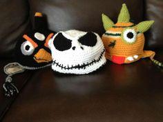 Crochet hats for boys and men - Crochet Monster Hats ~ From Dawned On Me Crochet ~ ideas -no pattern