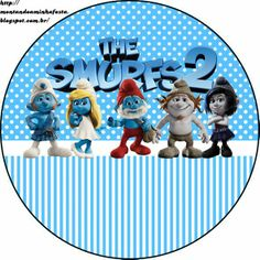 Smurfs: Free Printable Candy Bar Labels for Boys Party. Party Printables, Free Printables, Doilies, Candy Bar Labels, Smurfette, Bear Valentines, Christmas Centerpieces, Blogger Templates, Disney Wallpaper