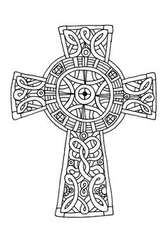 Celtic Cross, : Amazing Celtic Cross Coloring Pages