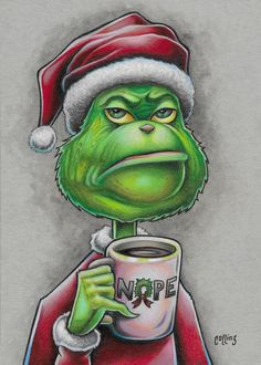 Christmas Rock, Grinch Stole Christmas, Christmas Time, Christmas Crafts, Xmas, Christmas Canvas, Etsy Christmas, Funny Christmas, Christmas Pictures To Draw