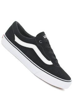 Vans Milton Suede Schuh (black white) kaufen bei skatedeluxe