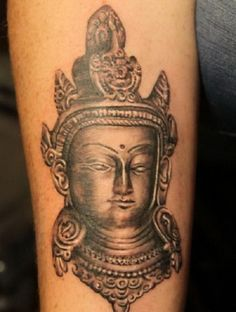 Holy Buddhist Tattoos Designs Ideas: Buddhist Tattoos Buddhist Tattoo For Women ~ Cvcaz Tattoo Art Ideas ~ Tattoo Design Inspiration Unique Tattoos, Small Tattoos, Awesome Tattoos, Bhudda Tattoo, Tattoo Images, Tattoo Photos, Buddha Tattoo Design, God Tattoos, Fresh Tattoo