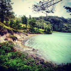 Lake Linow, North Sulawesi, Indonesia