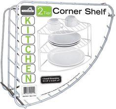 2 tier corner shelf Case of 18