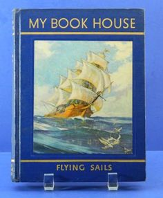 My Book House Flying Sails 1948 HC Olive by QueeniesCollectibles, $9.99