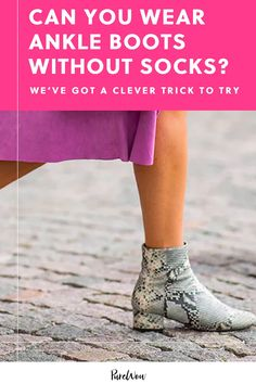 Here's the trick to making it look like you're sporting ankle boots without socks, just without any of the blisters, odors or discomfort that comes with skipping socks altogether. #ankle #boots #socks How To Wear Ankle Boots, Color Trends, Good News, What To Wear, Clever, Autumn Fashion, Socks, Leather Jacket, Chic