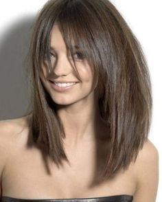 Lob haircuts with bangs #BobCutHairstylesWithBangs