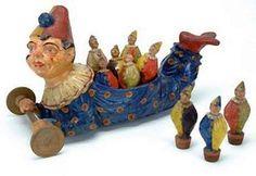 Lovely old clown skiddles set.