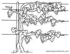 proyecto de la uva para infantil - Buscar con Google Leaf Coloring, Adult Coloring, Coloring Books, Coloring Pages, Wine Gadgets, Wine And Canvas, Pomes, Bible Crafts, Autumn Activities