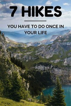 Hikes You Have To Do Once In Your Life This is a hiking bucket list. Some of the best hikes in the world.This is a hiking bucket list. Some of the best hikes in the world. Thru Hiking, Hiking Tips, Camping And Hiking, Camping Gear, Hiking Usa, Hiking Europe, Camping Glamping, Backpacking Tips, Camping Hacks