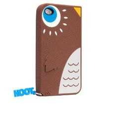 Amazon.com: Hoot - Silicone iPhone 4 / 4S Case Brown: Cell Phones & Accessories