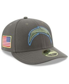 New Era Los Angeles Chargers Salute To Service Low Profile 59FIFTY Fitted Cap - Green 6 7/8