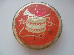 most rare vintage soviet tin box container by KlimentinaVintage
